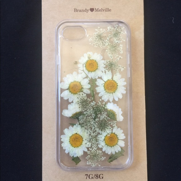 buy popular 41af9 e48ec Brandy Melville clear daisy floral iPhone case NWT